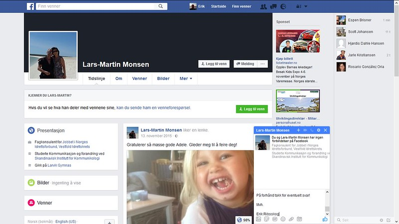 mer far facebook monsen