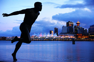 Running in Stanley Park with Vancouver City View | by TOTORORO.RORO
