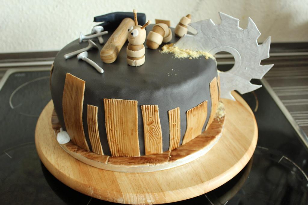 Holz Torte Torte Fur Einen Tischler Princi Cakes Flickr