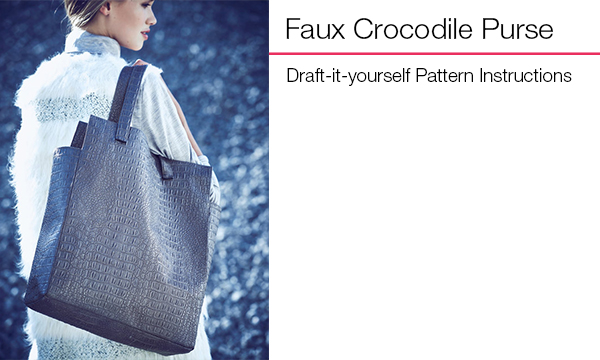 Faux Crocodile Purse
