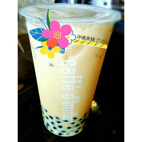 We think you'll really like our Okinawan Black Sugar Custard bubble milk tea. Come and have one today! 🗻🍵❤