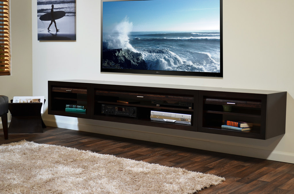 ... Wall Mounted Media Stand ECO GEO Entertainment Center Espresso | By  Woodwaves