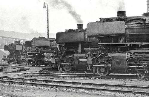 Deutsches Bundesbahn Db Steam At Trier Locomotive Depot
