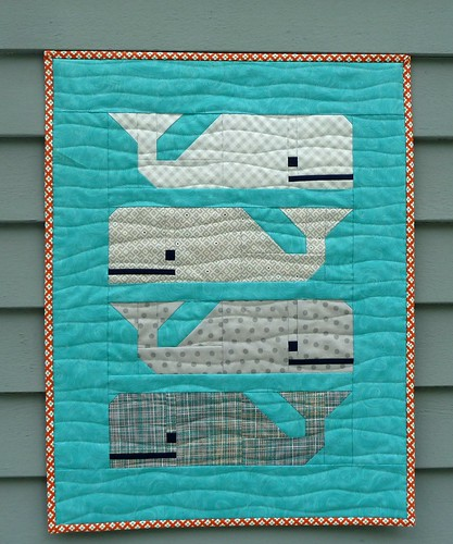 Preppy The Whale Mini Quilt Thar She Blows Preppy The