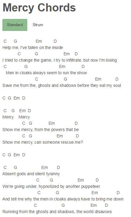 Muse - Mercy Chords | Muse - Mercy Chords chords.tv/muse-mer ...
