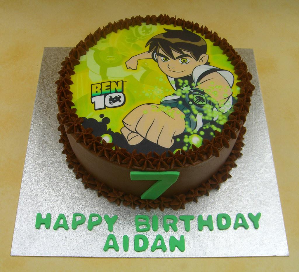 Ben 10 Birthday Cake 7th Birthday Chocolate Fudge Cake Wit Flickr