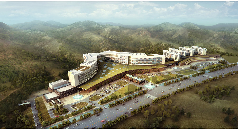 Architecture Site Plan Renderings for a fourstar hotel fi – Site Plan Renderings
