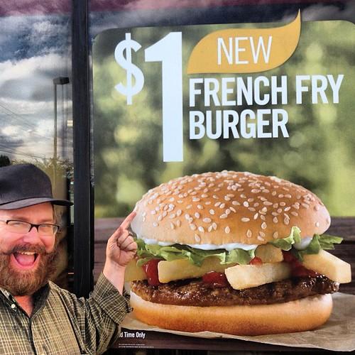 Burger King One Dollar French Fry Burger, 9