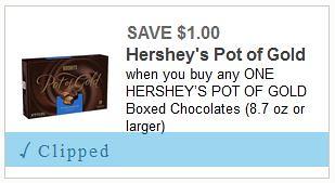 Hershey's Pot of Gold Coupon