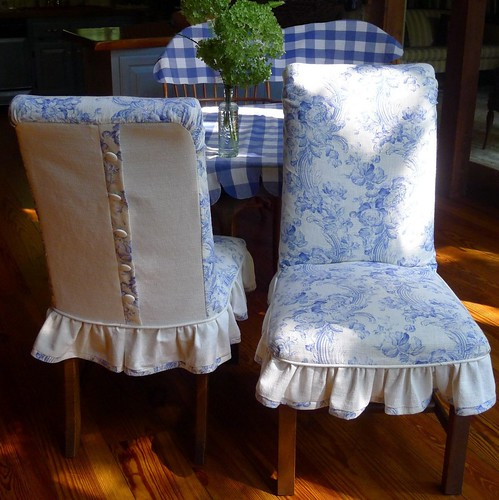 blue custom linen chair slipcovers my grandmother 39 s lace