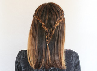 Half-French Braided Half Up Hairstyle | by srivard72