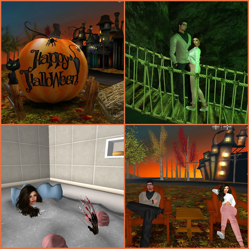 Halloween Town collage