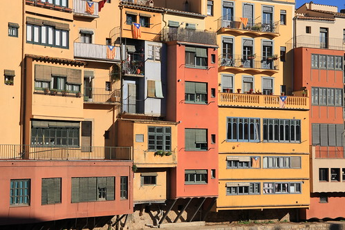 Girona - riverside buildings