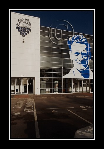 # Sir Tom Finney Stand : Facelift with 40 ft Vinyl Mural : Colour Version  : # PNE # Preston North End # Sir Tom 90th Birthday | by norbet1