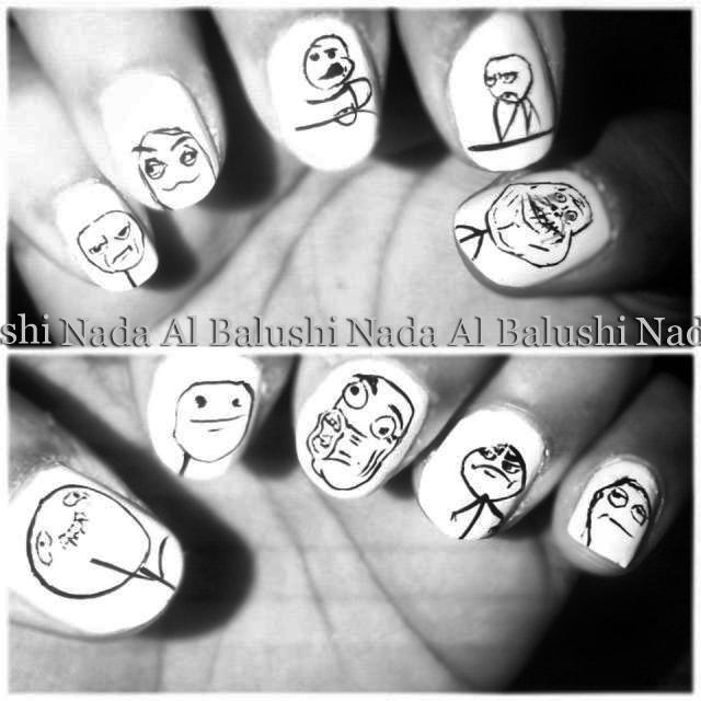 Meme Nail Art Nada Al Balushi Flickr