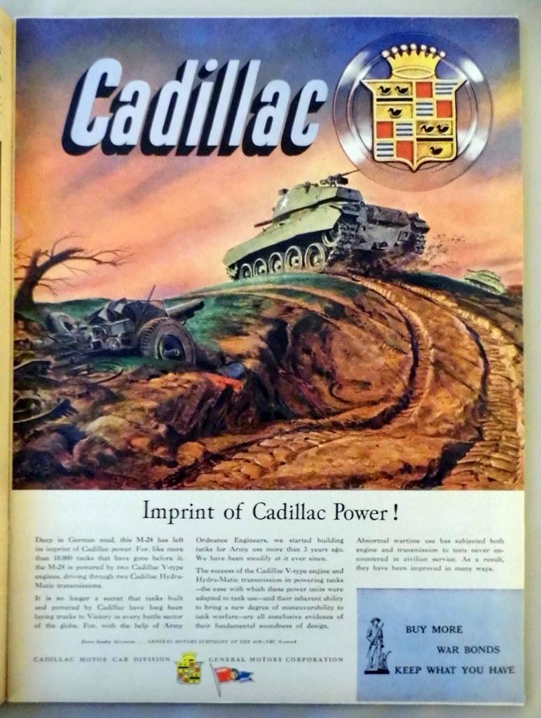 Vintage Automobile Advertising: Cadillac World War II Ad -…   Flickr