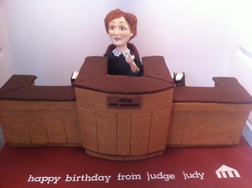 Judge Judy Birthday Cake