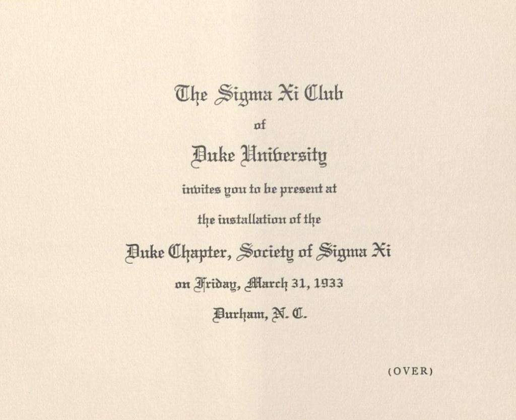 Invitation to installation of duke universitys sigma xi c flickr invitation to installation of duke universitys sigma xi chapter front march 31 stopboris Choice Image