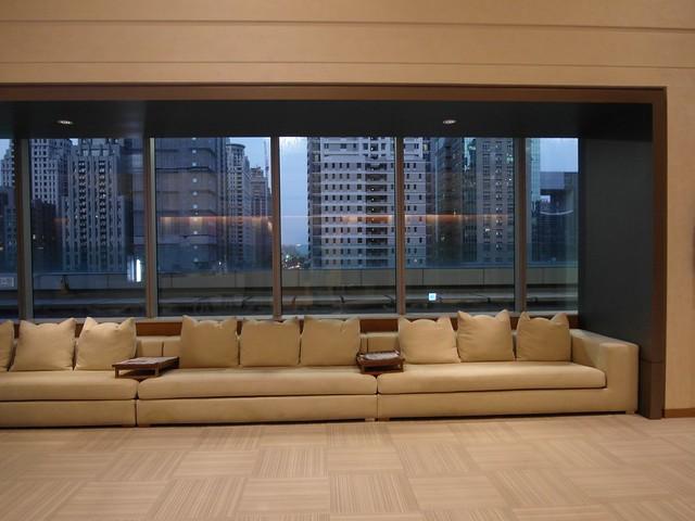 六樓健身房外的大廳@台中日月千禧酒店