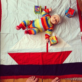 Playing on the quilt that @amymakesthings made me. I never imagined it would be used for this. | by anna pickard