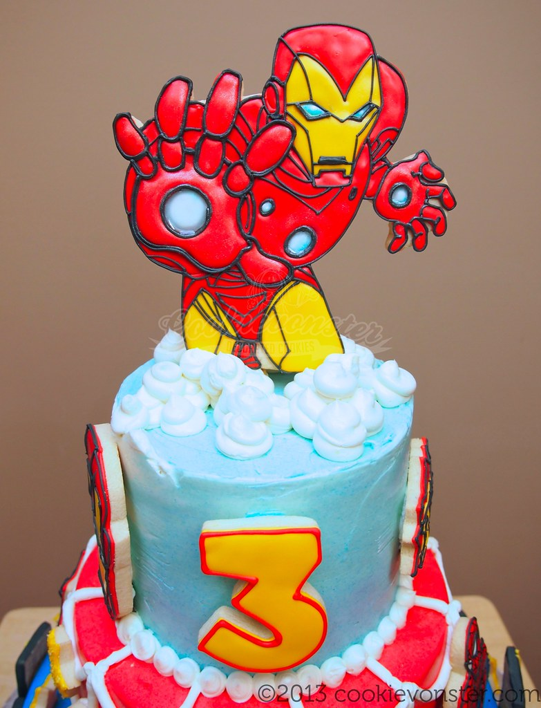 ironman cake topper He should be pushed in all the way in Flickr