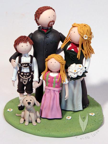 Trachten Familie Tortenfigur Tortenfiguren Flickr