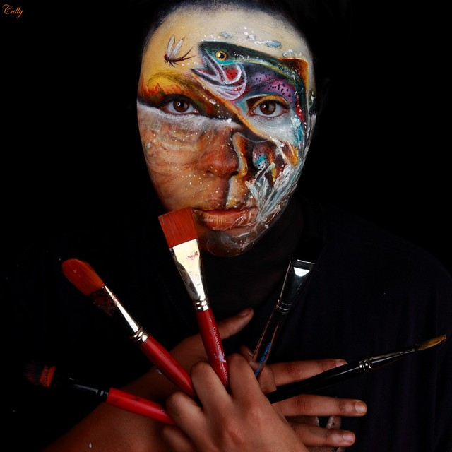 Angela Roberts Photography: Fine Art Face Paints ©2016 Cully Firmin