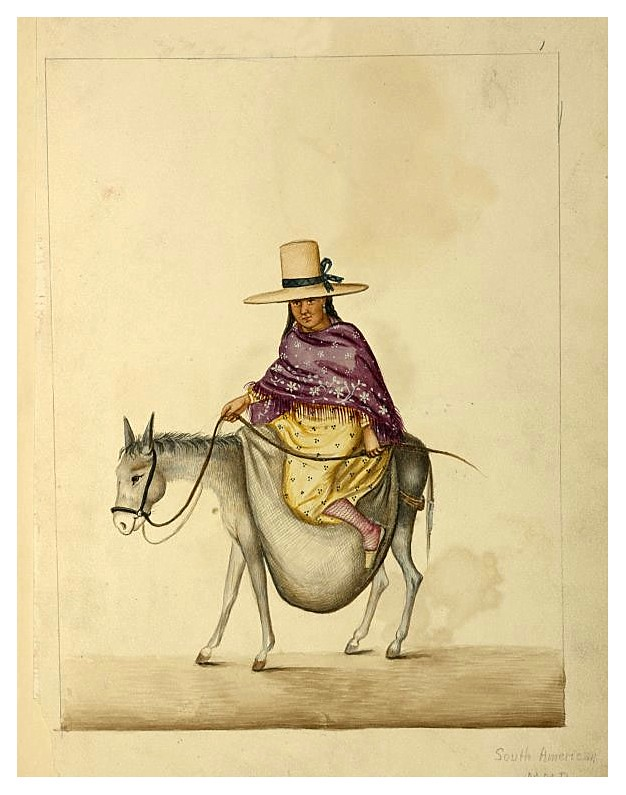 005-Tipos de Lima-década 1830-40- Pancho Fierro-NYPL