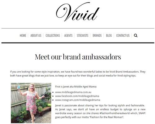 brand ambassador for VIVID