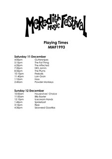 MMF1993 Playing Times | by Aunty Meredith