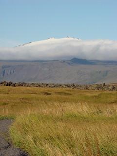 011 Snæfellsjökull vanaf hotel Búðir