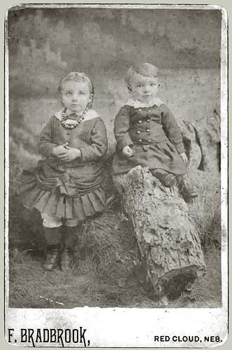Two children in a studio