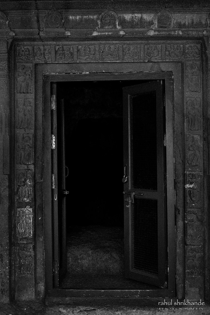... Cave Door At Ajintha | By Rahul Shrikhande
