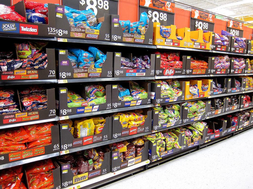 Halloween Candy Aisle at Walmart 9-25-13 | anothertom | Flickr