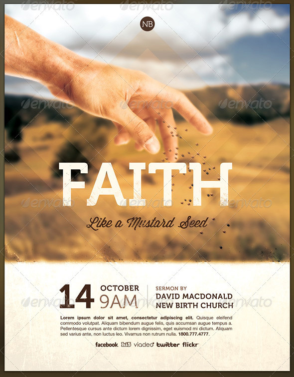 mustard seed faith church flyer template the mustard seed flickr