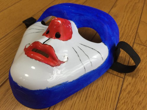 ハロウィンのドラえもんマスク