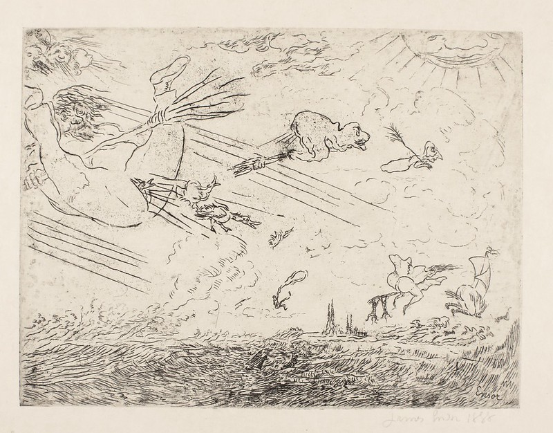 James Ensor - Wizards in a Squall, 1888