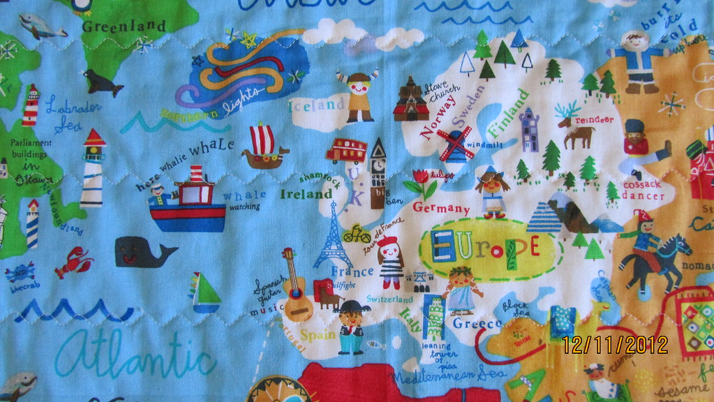 World map baby quilt detail 1 mrs quilts a lot flickr world map baby quilt detail 1 by mrs quilts a lot gumiabroncs Choice Image