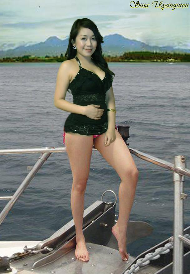 Sexy asian beautiful girls booty