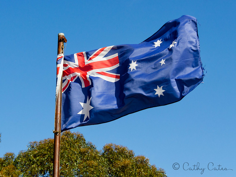 Flying the Australian Flag