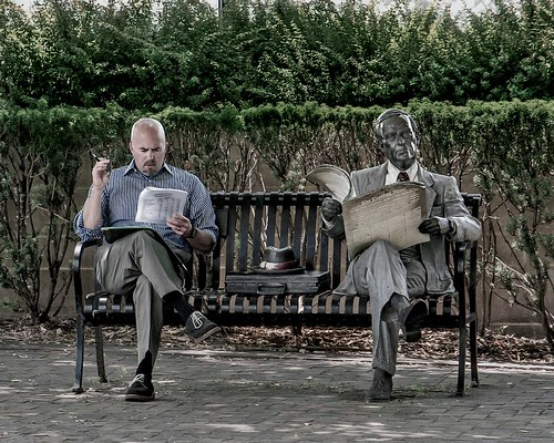 Two Guys Reading Final | by skersting66