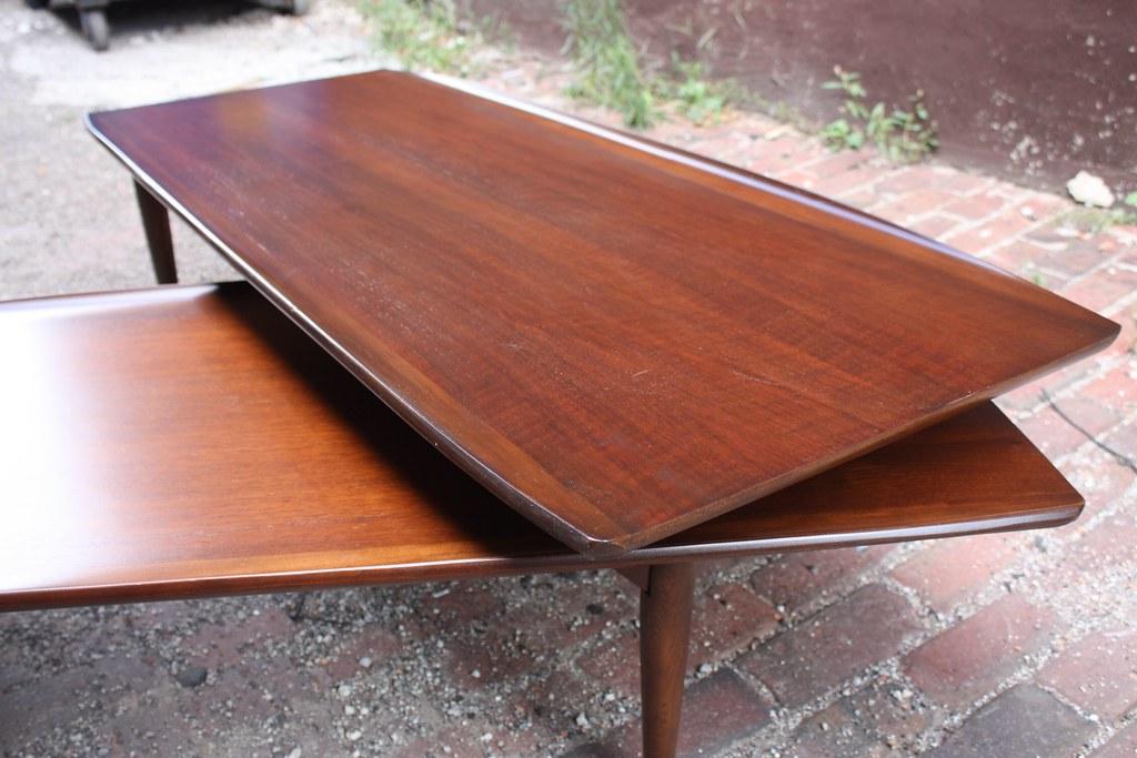 ... Mint Mid Century Modern Bassett Artisan Swivel Pivot Expandable Coffee  Table (U.S.A.,1960u0027s)