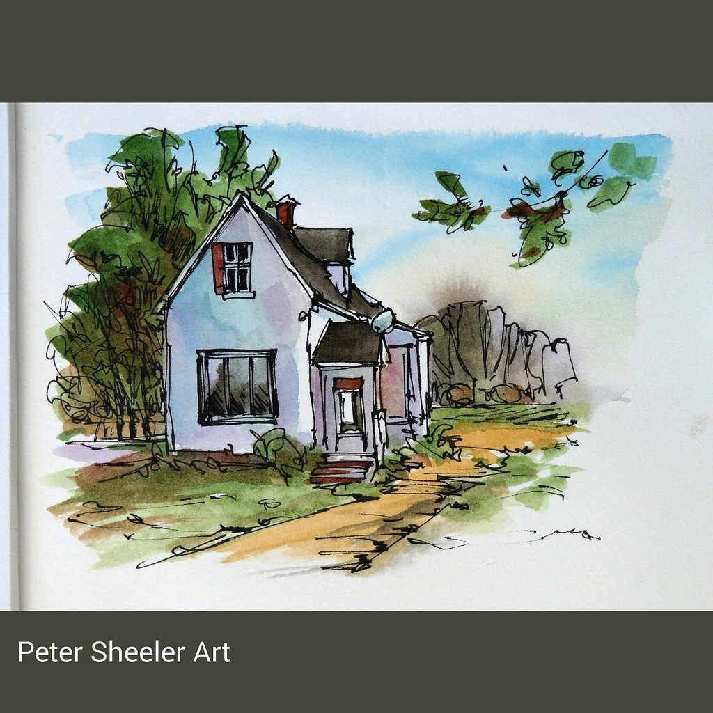 It Can Be A Simple Rural Sketch Cute Little Farmhouse On The Bruce Peninsula