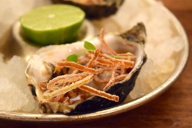 Vietnamese Dressed Oysters at Hawksmoor, Knightsbridge | www.rachelphipps.com @rachelphipps