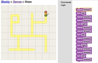 Blockly Demo: Maze Hardcoded Solution | by stevegarfield