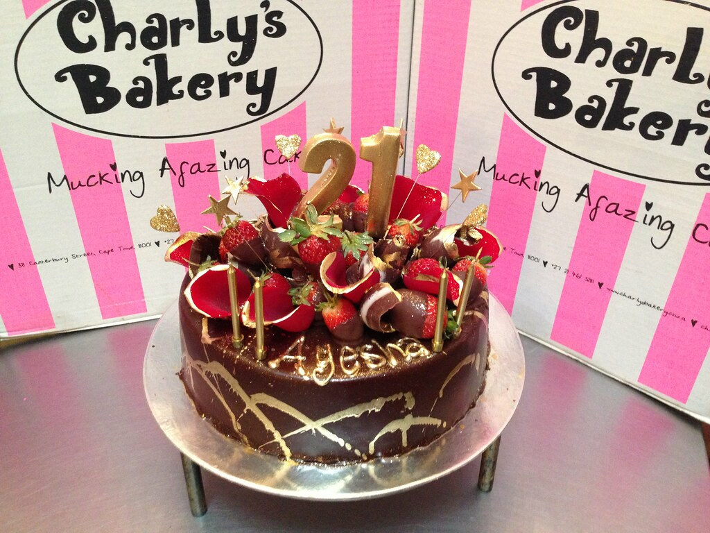 Standard size round Wicked Chocolate cake iced in ganache Flickr