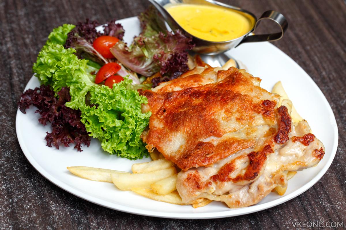 Reminisce Cafe Pan Fried Chicken Chop Pumpkin Sauce