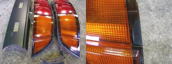 MR2 SW20 Rear Tail lights and garnish (Matte Black Wrapped)