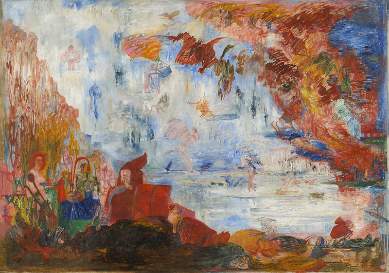 James Ensor, The Tribulations of Saint Anthony, 1887,