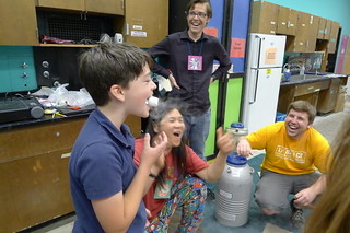 Liquid nitrogen frozen marshmallow at crime science camp | by Derringdos